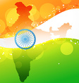 indian map with flag design vector image