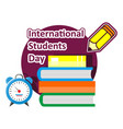 literacy day book international library banner vector image vector image