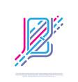 logo monogram letter b colored vector image vector image