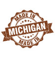 made in michigan round seal vector image vector image