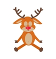 Meditating Deer Cartoon Flat vector image vector image