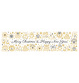 merry christmas and new year line icon banner vector image