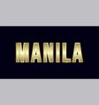 metro manila city typography design greetings for vector image
