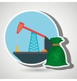 oil drilling money isolated icon design vector image vector image