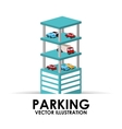 parking building design vector image