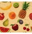 Pattern pixel fruits kraft vector image vector image