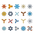 Propeller and paddle flat icons vector image vector image