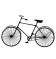 retro old victorian bicycle silhouette isolated vector image vector image