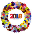 ring of multi-colored circles vector image
