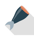 salmon fish icon flat style vector image