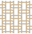 seamless nautical rope pattern beige on white vector image vector image