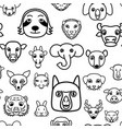 seamless pattern background cute kawaii vector image