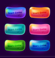 set 3 start game buttons for arcade video games vector image vector image