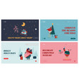 set landing page templates for winter holidays vector image vector image