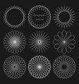 set round linear elements for design spirographic vector image