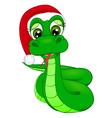 snake cartoon in winter hat symbol 2013 vector image vector image