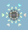 Snowflakes collection isolated of snowflakes fine vector image