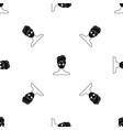 spa facial clay mask pattern seamless black vector image