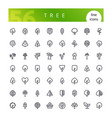 tree line icons set vector image