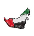 united arab emirates country silhouette vector image