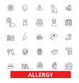 allergy food season desease sneeze pollen vector image