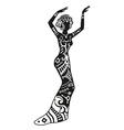 Ethnic dance african woman vector image
