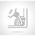 Car service oil change flat line icon vector image