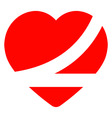 belted up heart vector image