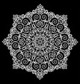 a circular pattern with flowers from lace vector image vector image