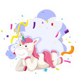 a unicorn character party theme vector image