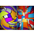 abstract multicolor composition of vector image