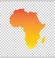 africa map colorful orange vector image vector image
