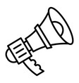 alert bullhorn icon outline style vector image