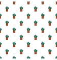 aloe cactus pot pattern seamless vector image