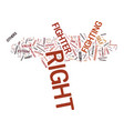 are you a right fighter text background word vector image vector image