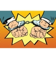 Arrest hands cuffed vector image vector image