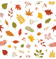 autumn seamless pattern with fallen tree leaves vector image vector image