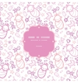 Baby girls frame seamless pattern background vector image