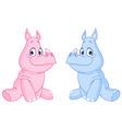 baby rhinos vector image vector image