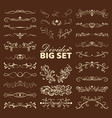 big set decorative flourishes hand drawn vector image vector image