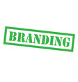 branding stamp on white vector image vector image