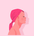 breast cancer survivor woman portrait isolated vector image