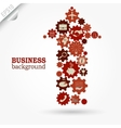 Business design Gears in Arrow vector image