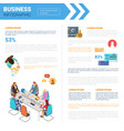 business infographics set with copy space for vector image vector image