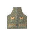 camouflage vest isolated icon vector image vector image
