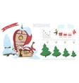 christmas holiday cartoon infographics vector image