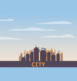 cityscape day modern city skyline panoramic vector image vector image