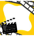 clapboard for cinema vector image vector image