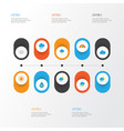 climate flat icons set collection of shower bow vector image vector image