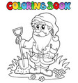 coloring book cartoon garden dwarf vector image